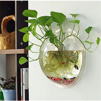 Sweetsea Hanging Fish Bowl Aquaponic Fish Tank