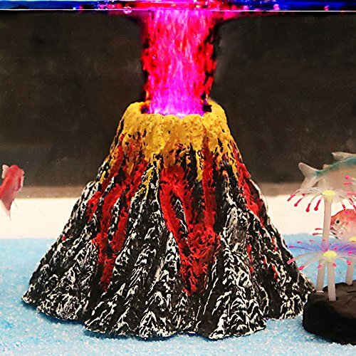 Volcano fish tank ornament