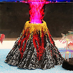 Volcano Fish Tank Decoration
